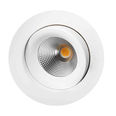 DOWNL LED 9W VIT IP44 WARMDIM ROTERBAR 360° INKL DRIVDON